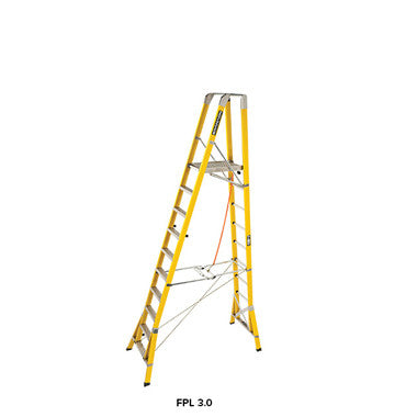 Branach WorkMaster Wide 550mm 10 Step Platform Ladder (Platform Height 3.0m)