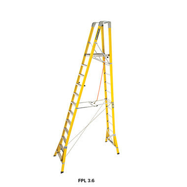 Branach WorkMaster 450mm 12 Step Platform Ladder (Platform Height 3.6m)