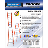Indalex Pro-Series Fiberglass Dual Purpose Ladder 1.8-3.2m - Access World - 2