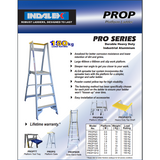 Indalex Pro-Series Aluminium Platform Ladder 3.6m/2.7m - Access World - 2