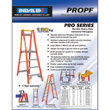 Indalex Pro-Series Fibreglass Platform Ladder 2.4m/1.5m - Access World - 2