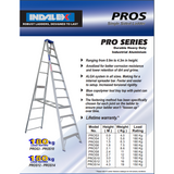 Indalex Pro-Series Aluminium Single Sided Step Ladder 1.2m/4f - Access World - 2