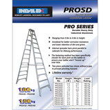 Indalex Pro-Series Aluminium Double Sided Step Ladder 2.4m/8f - Access World - 2