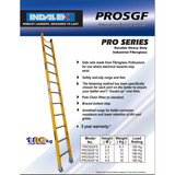 Indalex Pro-Series Fibreglass Single Ladder 3.7m/12f - Access World - 2