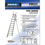 Indalex Pro-Series Aluminium Orchard Ladder 3.0m/10f - Access World - 2
