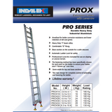 Indalex Pro-Series Aluminium Extension Ladder with Level Arc 5.6-9.9m - Access World - 2
