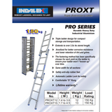 Indalex Pro-Series Aluminium Triple Extension Ladder 1.7-4.5m - Access World - 2