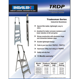 Indalex Tradesman Aluminium Slimline Platform Ladder 1.5/0.6m - Access World - 2