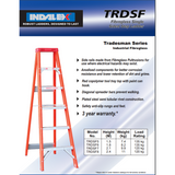 Indalex Tradesman Fibreglass Single Sided Step Ladder 2.1m/7f - Access World - 2