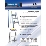 Indalex Domestic Aluminium Slimline Ladder 0.8m/3f - Access World - 2