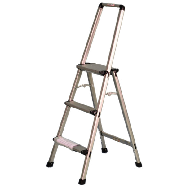 Indalex Aluminium 3 Step Domestic Ladder With Handrails 0.8m