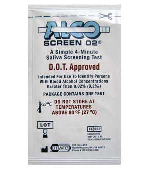 Screen Alcohol Test Strips