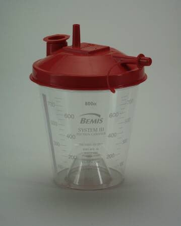 Replacement Round Suction Canister and Lid