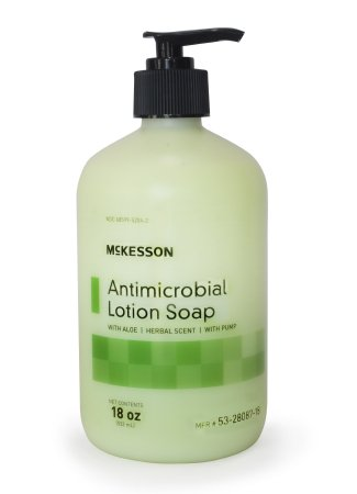 Soap, antimicrobial with aloe, 18 oz