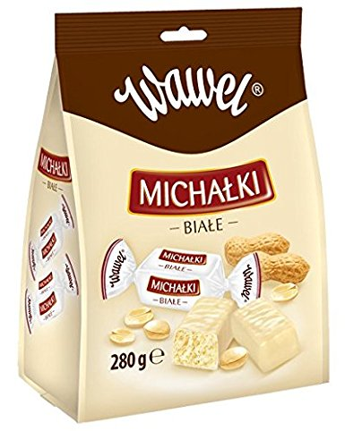 WAWEL Michalki zamkowe White 250g white chocolate milk and peanut