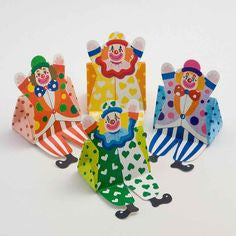 10 x Clown Favour Boxes - Assorted Colours