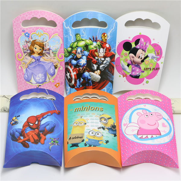 Minnie Mouse Kids Party Supplies Favor Gift Box Wedding Party Favour Gift Candy Boxes Paper Gift Box Bags Supply