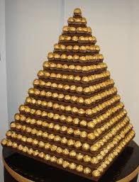 HUGE 16 tier .Ferrero Rocher Pyramid Stand HIRE ONLY