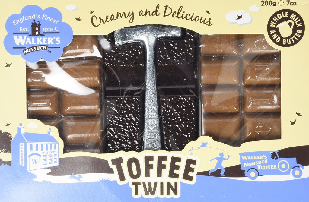 Original Creamy Nonsuch Toffee Twin Pack With Hammer 200g