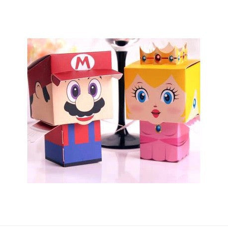 100 x Novelty Super Mario&Princess Peach Wedding /party Favours Boxes Candy gift Boxes