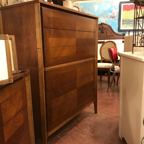 mid century dresser with mirror and tall dresser