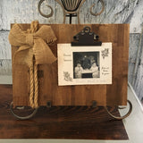 burlap photo holder