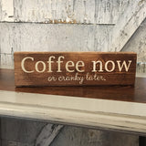 Coffee Now sign
