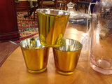 Gold glass votive cups