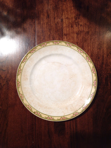 Vintage Plate with Floral Border