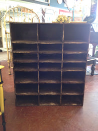 All wood 21 slot cubby