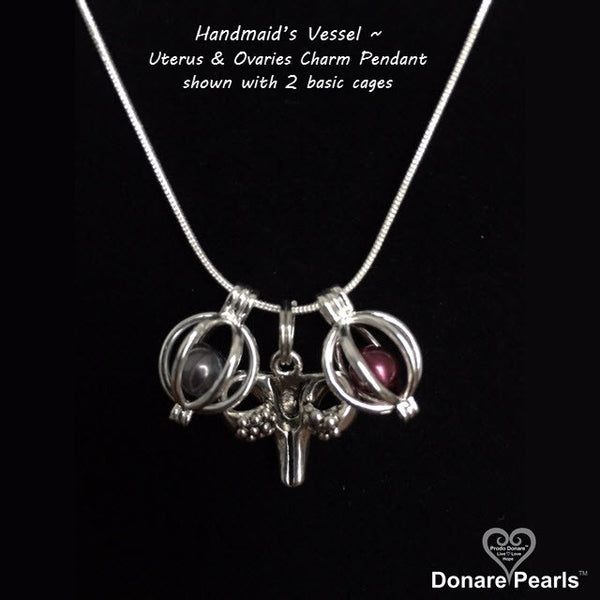 "Handmaid's Sacred Vessel ~<BR>""Uterus & Ovaries Necklace"""