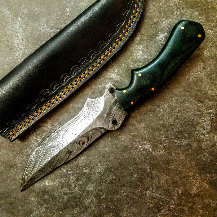 HTS-424 Sweep Hunter with Green Handle - HomeTown Knives