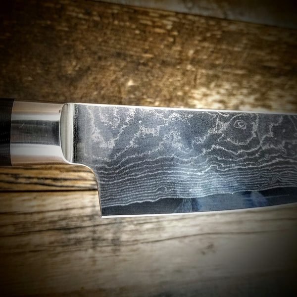 "HTC-1 Vg-10 Stainless Damascus 8"" Chef Knife ǁ SHUN ǁ Ergonomic ǁ Professional Chef ǁ Sharp & holds edge at maximum"