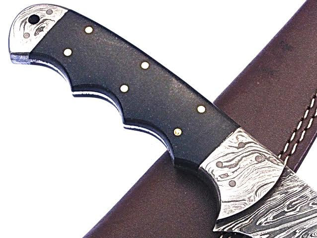 HT-22  Damascus Knife custom handmade Fillet / Boning / Bull Horn Handle / Fishing / Kitchen - HomeTown Knives