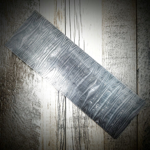 "HTS-6 Thin Twist Damascus  Billet / 4"" x .11"" x 12"" / Great quality / Twist Pattern"