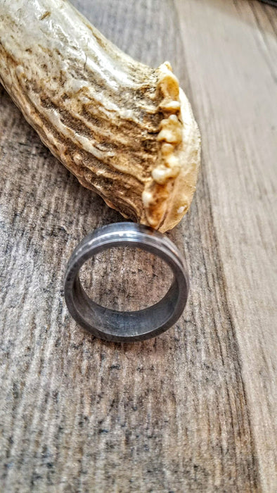 HTU-3 Damascus Ring : Forged & Hand Crafted  - Square Slotted Sides