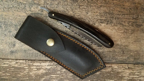 HTS-92 Damascus Straight Razor  / Shave / Handmade / Custom / Forged / Paduk Handle / Hand Filed Spine / Utility