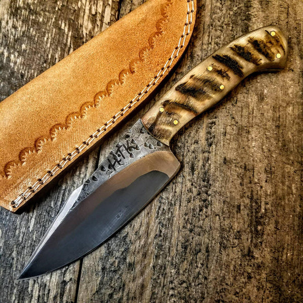 HTB-2  Hand Forge Sanmai Knife custom handmade Skinner Knife / Ram Horn / Great Quality / Camping / Hunting Game