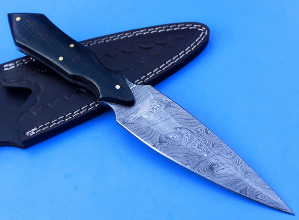 HTK-55 custom handmade Damascus Dagger / Micarta handle / Great quality