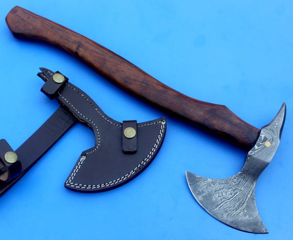 HTK 68 -  Damascus Knife custom handmade tomahawk Axe - Beaf Chopper