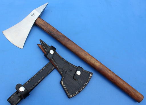 HT- 43 Custom Handmade Carbon Steel AXE - Throwing Axe / Camping / Hunting / Light Wood - HomeTown Knives