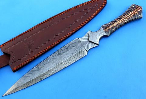 HT-195-Dagger-PineCone Handle - HomeTown Knives