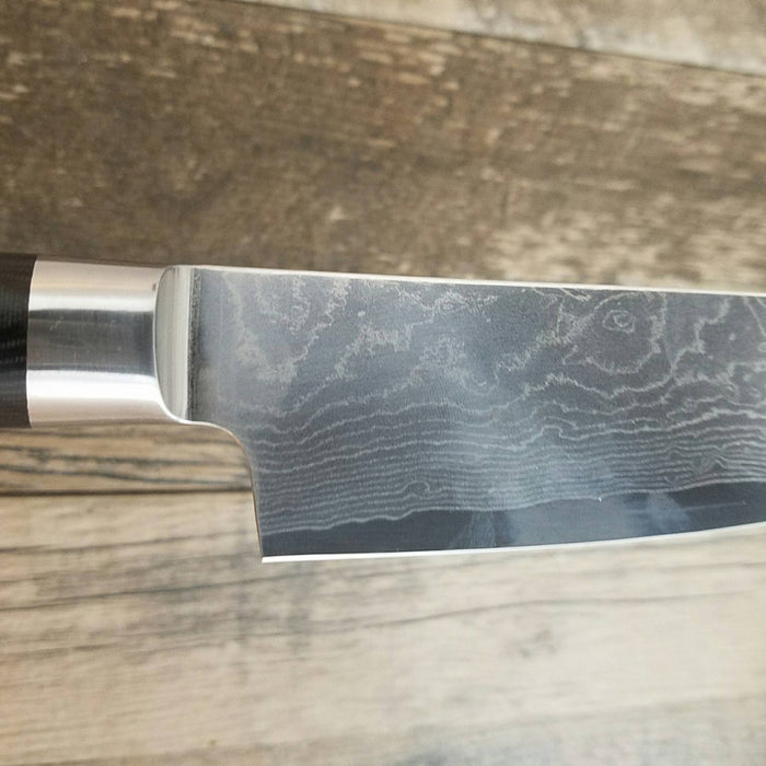 "VG-10 STAINLESS Damascus 8"" Santuko Chef Knife ǁ Ergonomic ǁ Professional Chef ǁ Sharp"
