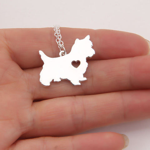 Westie Heart Necklace