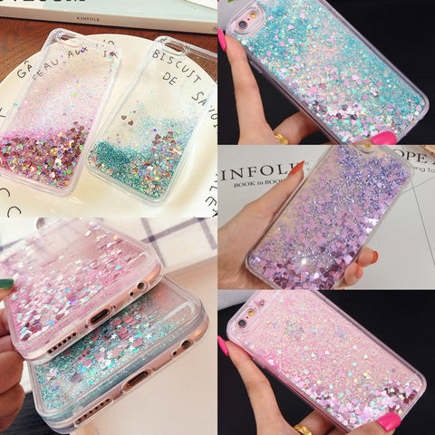 Glitter Hearts & Stars Phone Case
