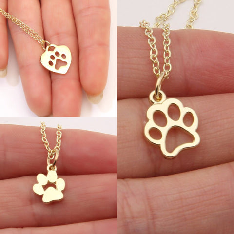 Paw Print Necklace Trio