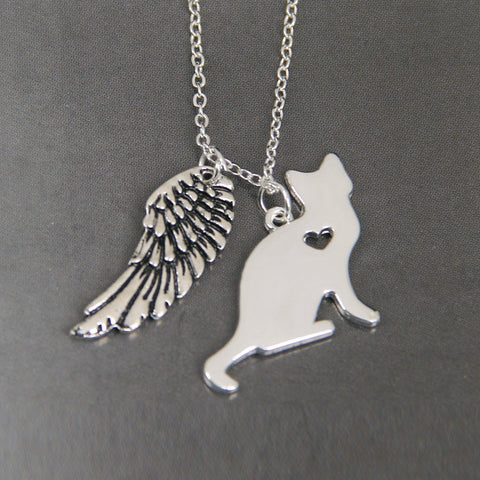 Cat Heart Necklace - Grateful Bacon