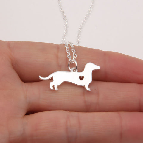 Dachshund Heart Necklace - Grateful Bacon