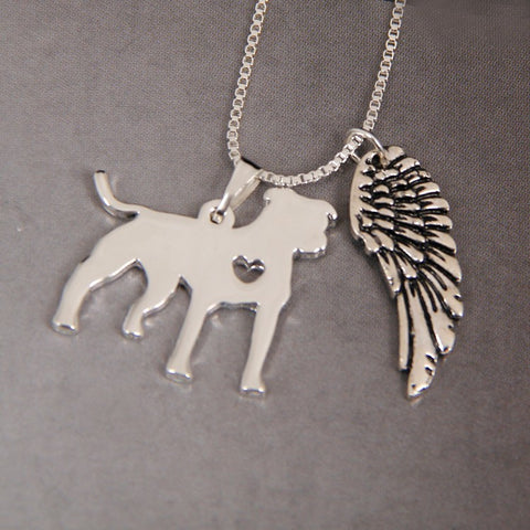 Pitbull Heart Necklace