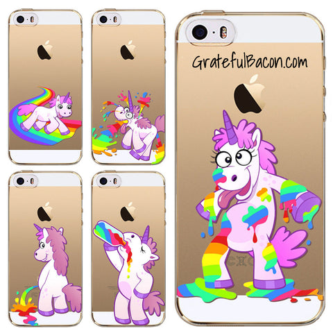 Unicorn & Rainbow Phone Cases - Grateful Bacon